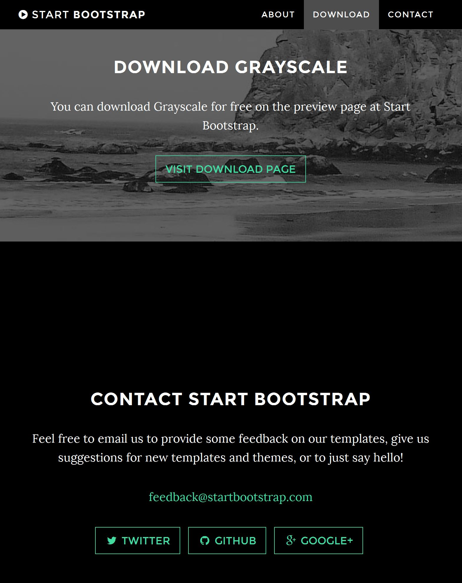 Bootstrap Magazine Template