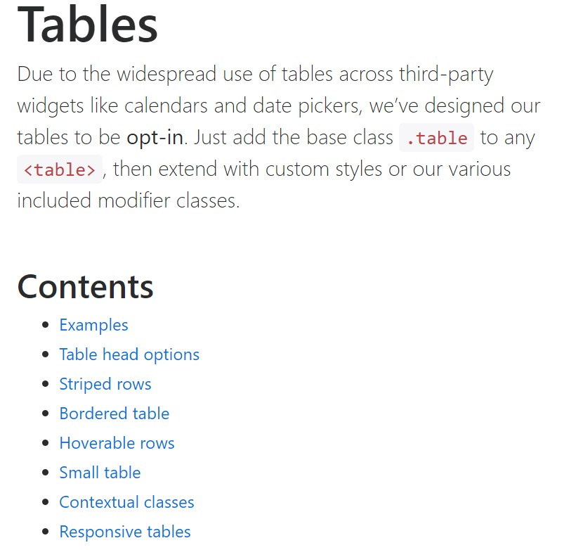 Bootstrap tables  main  records