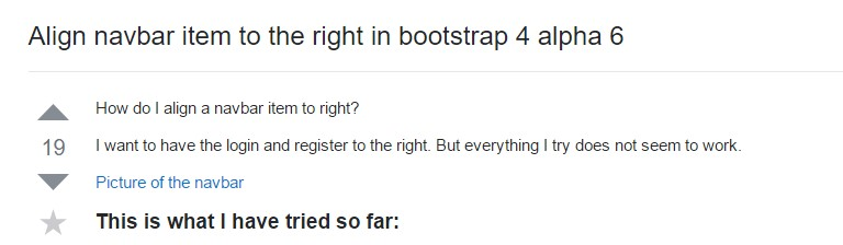 Line up navbar  object to the right  within Bootstrap 4 alpha 6