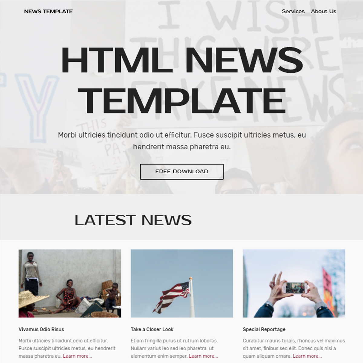 HTML Bootstrap News Templates