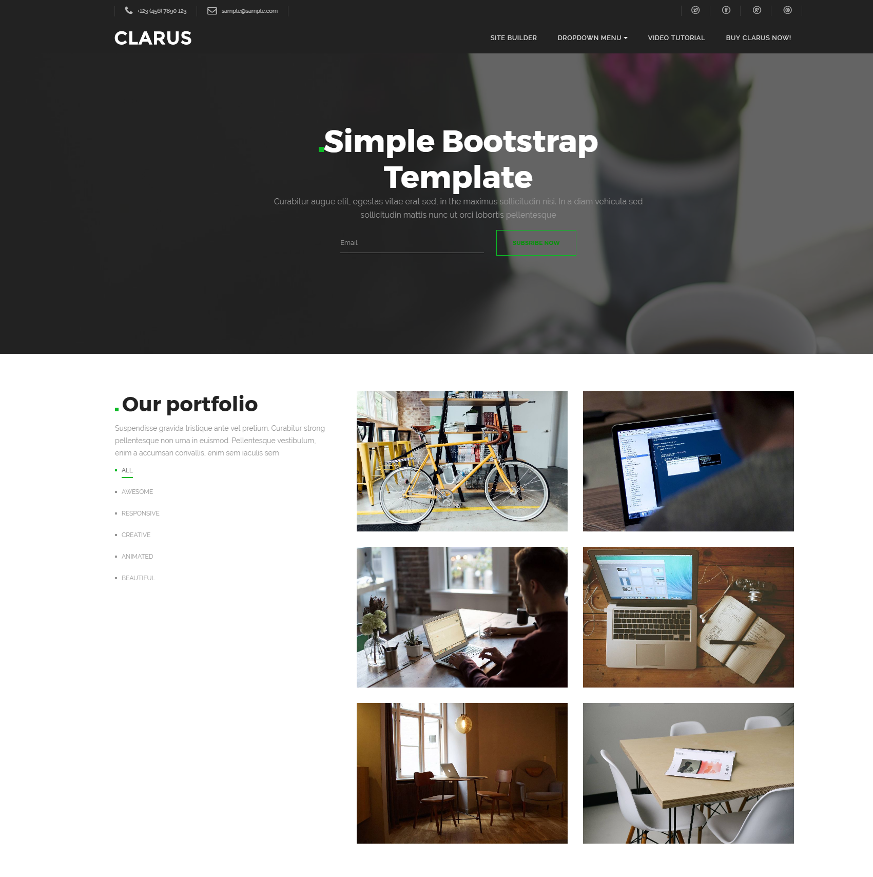 33 Excellent Free HTML Bootstrap Templates 2019