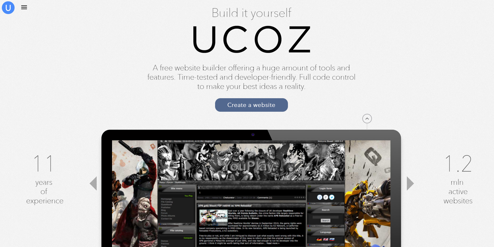 ucoz login, ucoz arrow, ucoz android