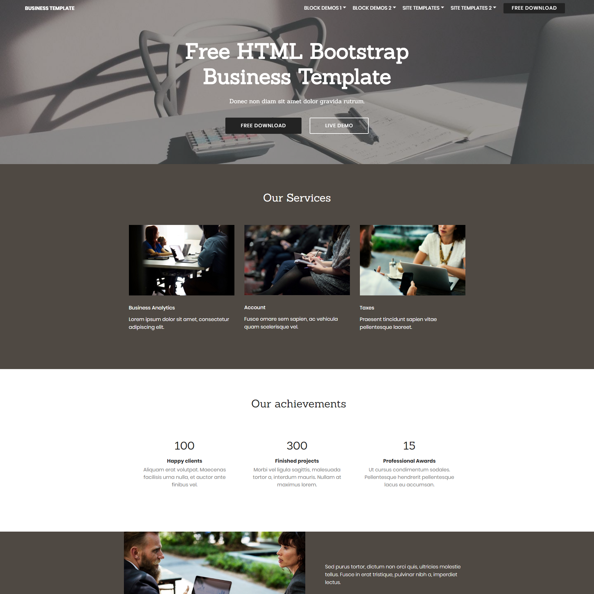 HTML5 Bootstrap Business Themes