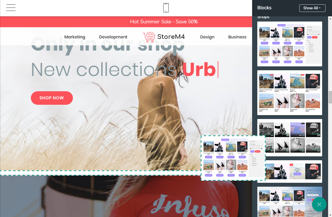 Mobile-friendly Page Builder