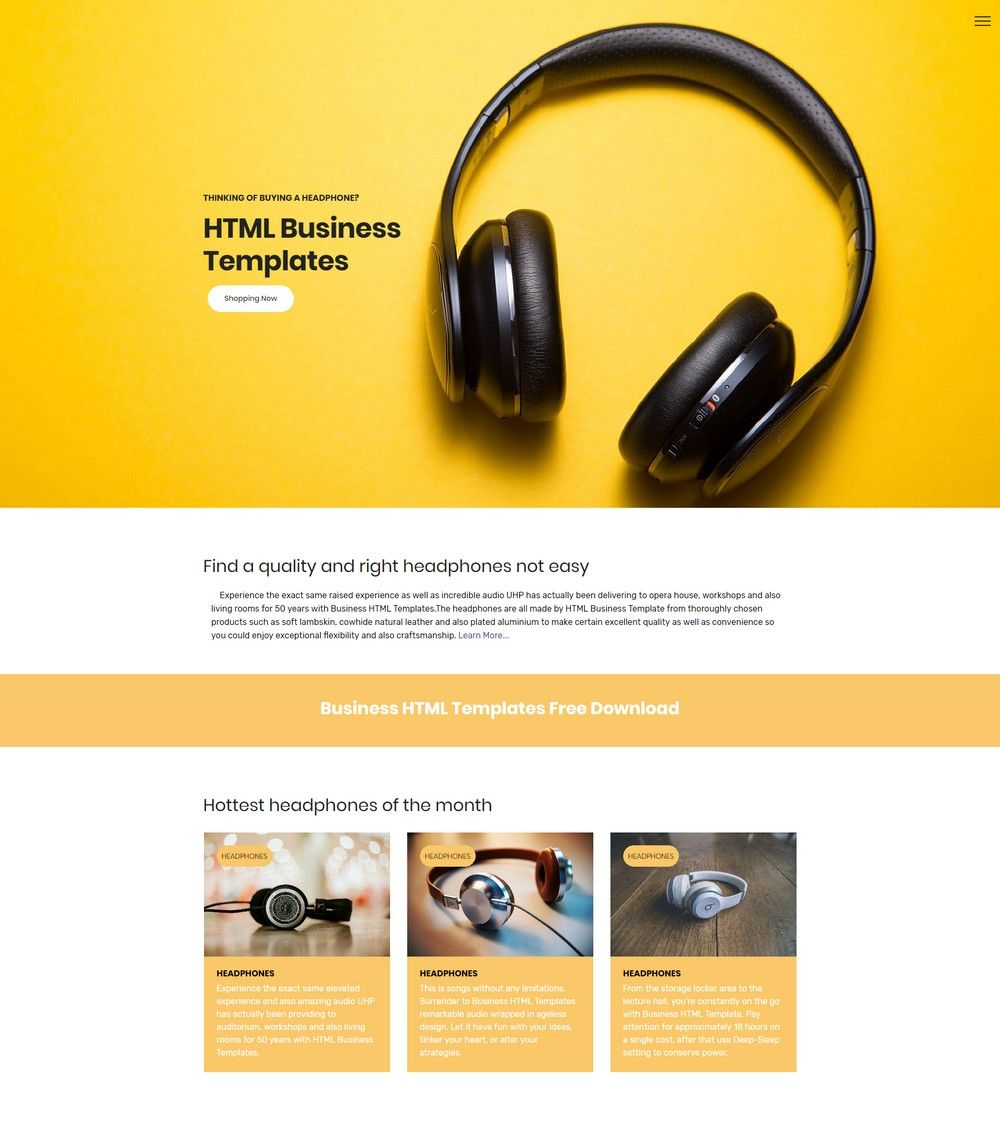 HTML Business Templates